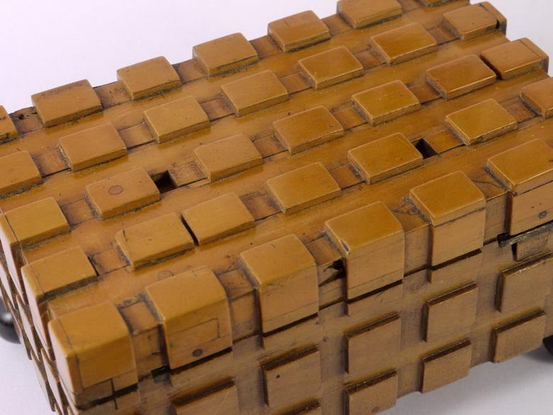 Boxwood mechanical puzzle box